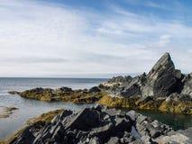 北多岩石的海滩 图库摄影