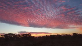 北天空的云彩 免版税图库摄影