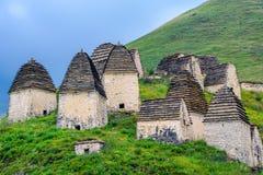 北奥塞梯的古老Alanian大墓地 图库摄影