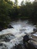 北威斯康辛瀑布在夏天 库存图片