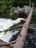 北威斯康辛瀑布在夏天 免版税库存照片