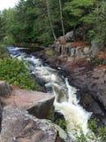 北威斯康辛瀑布在夏天 图库摄影