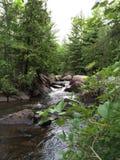 北威斯康辛瀑布在夏天 免版税库存图片