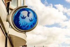 北安普顿英国2017年10月3日:巴克莱银行商标标志立场北安普顿工业庄园 免版税库存照片