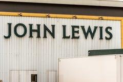 北安普顿英国2017年12月07日:约翰・刘易斯商标签到Brackmills工业庄园 免版税库存照片