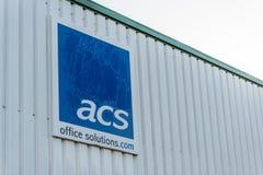 北安普顿英国2017年12月09日:ASC办公室解答商标签到Brackmills工业庄园 免版税库存图片