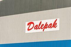 北安普顿英国2017年12月09日:Dalepak发行商标签到Brackmills工业庄园 库存图片