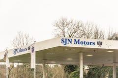 北安普顿英国2018年1月11日:SJN开汽车商标标志 免版税库存照片
