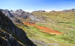 北山脉Huayhuash,秘鲁 库存照片