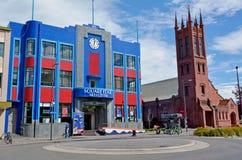 北帕莫斯顿-新西兰-方形的边缘创造性的中心 库存照片
