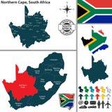 北开普省,南非地图  库存图片
