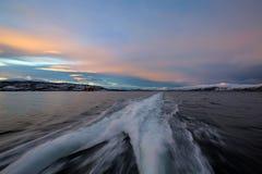 北挪威日出 库存照片
