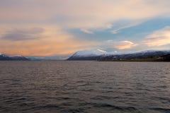 北挪威日出 免版税库存图片