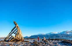 北挪威 库存照片