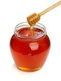 北斗七星木蜂蜜的瓶子 免版税库存照片