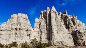 北新墨西哥白色峭壁  图库摄影