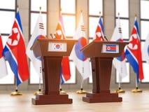 北朝鲜和韩国成交c ooperation合作和稀土 向量例证