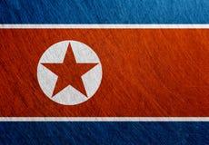 北朝鲜旗子,葡萄酒,减速火箭,被抓 库存图片
