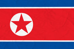 北朝鲜旗子 图库摄影