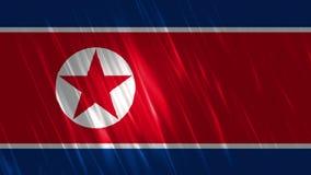 北朝鲜旗子Loopable背景 库存例证