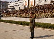 北朝鲜的军官 免版税图库摄影
