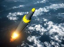 北朝鲜的弹道导弹发射  免版税库存图片