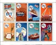 北朝鲜的老邮票 库存照片