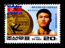北朝鲜的金牌优胜者-巴塞罗那奥运会, serie, 免版税库存照片