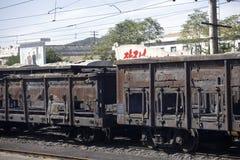 北朝鲜的铁路运输 免版税库存图片