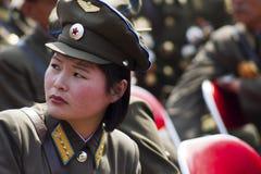 北朝鲜陆军妇女 库存图片