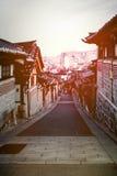 北村韩屋村的韩国传统房子 免版税库存照片