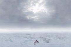 北极云彩冰海运 图库摄影