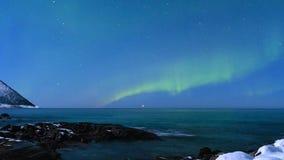 北极光极光Borealis HD定期流逝在夜空的 股票视频