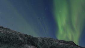 北极光极光Borealis HD定期流逝在夜空的 影视素材