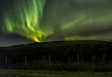 北极光漩涡  免版税库存照片