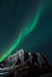 北极光&流星 库存照片