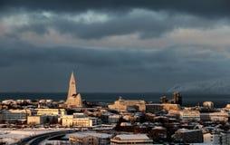北极冬天太阳2 免版税库存图片