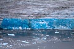 北极冰川。冰和寒冷。区域新地岛 图库摄影