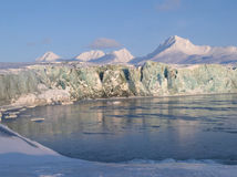 北极冰川冰 库存照片