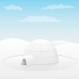 北极园屋顶的小屋横向 库存图片