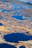 北极寒带草原沼泽地空中照片  图库摄影