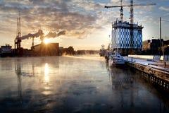 北极日落 免版税库存图片