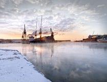 北极日落 库存图片
