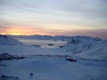 北极横向挪威 库存照片