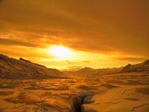 北极横向 库存照片