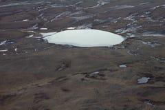 北极沙漠。空间寒冷。 免版税库存照片