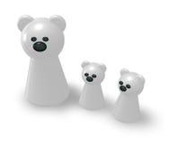 北极熊家庭 库存照片