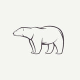 北极熊标志 库存例证