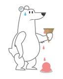 北极熊藏品熔化冰淇凌象 向量例证