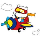 北极熊飞行员 免版税库存图片